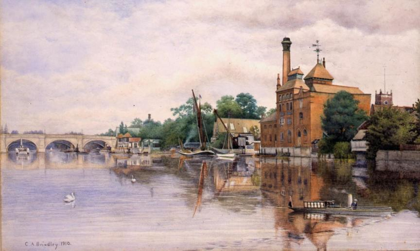 Fricker's Eagle Brewery by C A Brindley, 1910